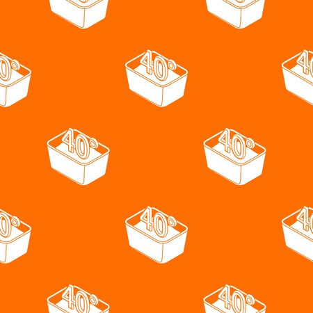 Hand wash 40 degrees celsius pattern vector orange for any web design best