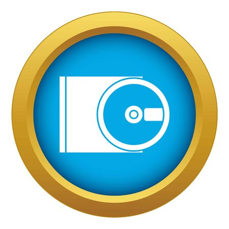 DVD drive open icon blue vector isolated on white background for any design Ilustrace