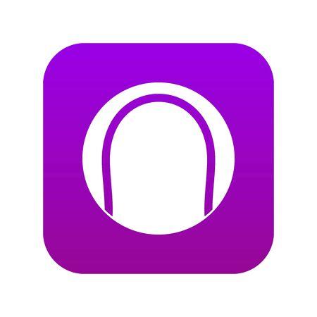 Black and white tennis ball icon digital purple