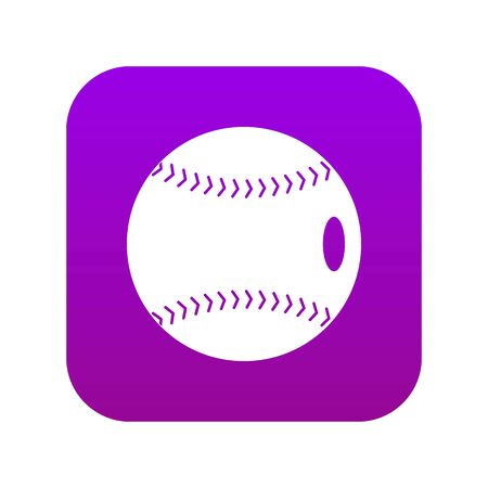Baseball ball icon digital purple for any design isolated on white vector illustration
