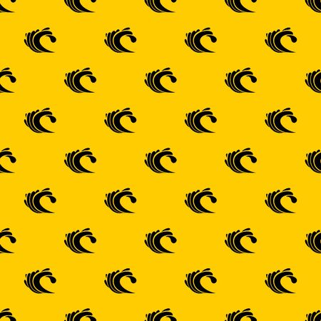 Wave pattern seamless vector repeat geometric yellow for any design Фото со стока - 130253175