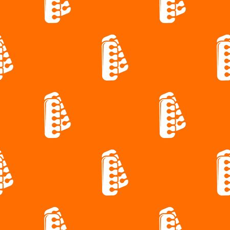 Nail foot tool separator pattern vector orange for any web design best
