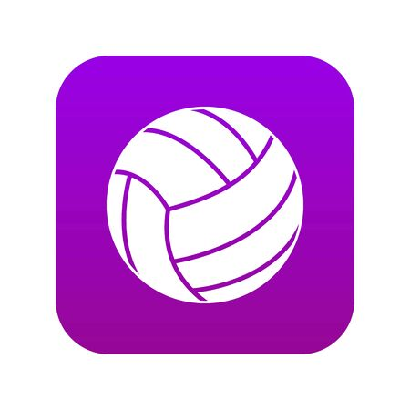 Black volleyball ball icon digital purple for any design isolated on white vector illustration Illustration