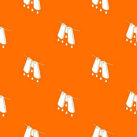 Pants drying pattern vector orange for any web design best Ilustrace