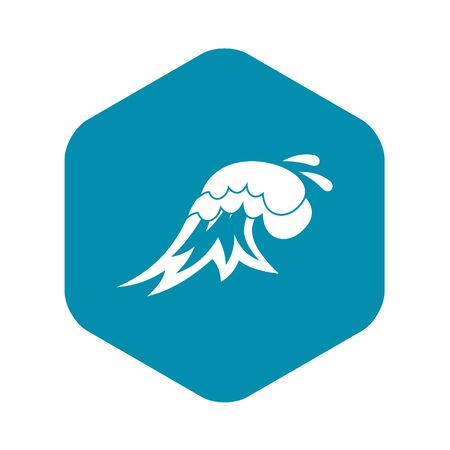 Surf wave icon. Simple illustration of surf wave vector icon for web Фото со стока - 130253208