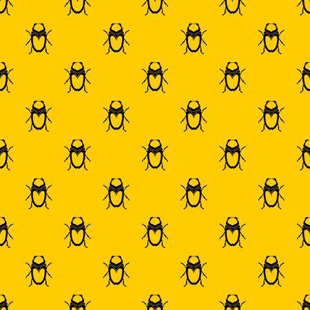 Scarab beetle pattern vector Vektorgrafik