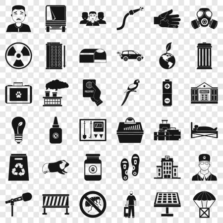 Barrier icons set, simple style Standard-Bild - 127762671