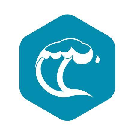 Ocean or sea wave icon. Simple illustration of ocean or sea wave vector icon for web