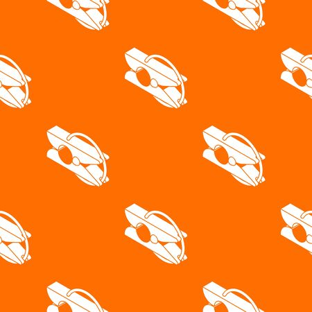 Clothes pin pattern vector orange for any web design best