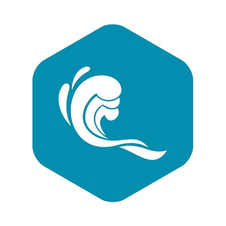 Water wave icon. Simple illustration of water wave vector icon for web Фото со стока - 130253220