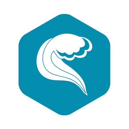 Ocean or sea wave icon. Simple illustration of ocean or sea wave vector icon for web Фото со стока - 130253226