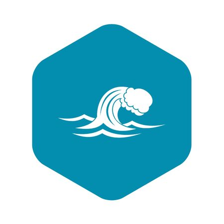Foamy wave icon. Simple illustration of foamy wave vector icon for web Фото со стока - 130253232