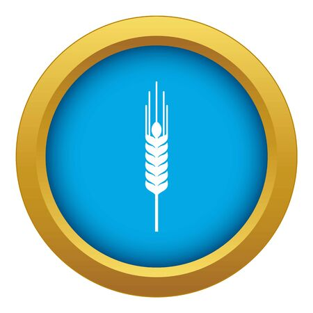 Stalk of ripe barley icon blue vector isolated on white background for any design