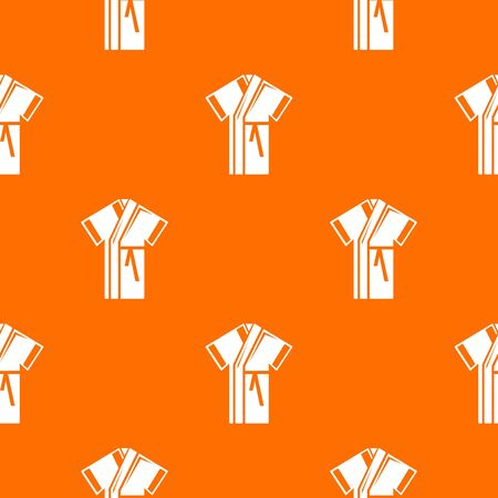 Robe pattern vector orange Illustration