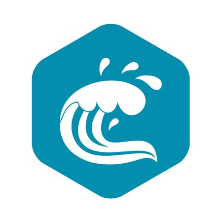 Water wave splash icon. Simple illustration of water wave splash vector icon for web
