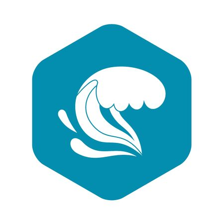 Surf wave icon. Simple illustration of surf wave vector icon for web Illustration