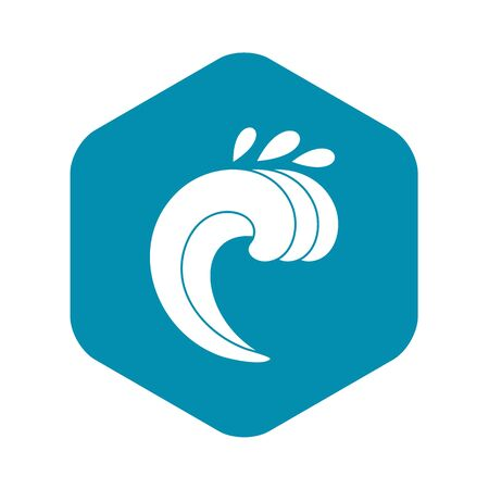 Large curling wave icon. Simple illustration of large curling wave vector icon for web Illustration