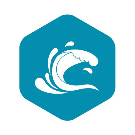 Water wave splash icon. Simple illustration of water wave splash vector icon for web Фото со стока - 130253272