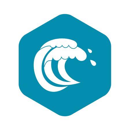 Wave of sea tide icon. Simple illustration of wave of sea tide vector icon for web Фото со стока - 130253276