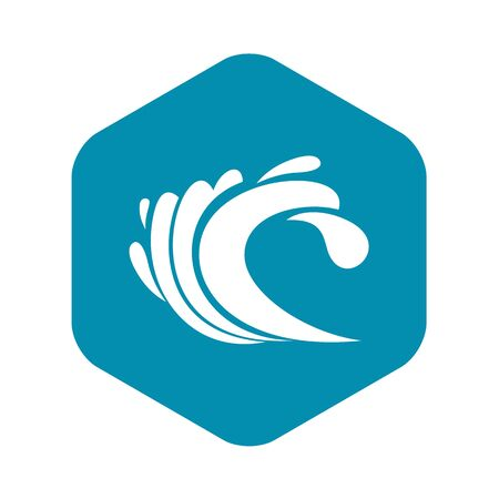 Wave icon. Simple illustration of wave vector icon for web Фото со стока - 130253282