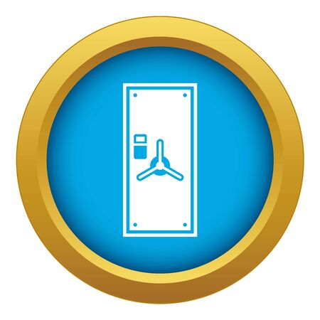 Safe door icon blue vector isolated on white background for any design