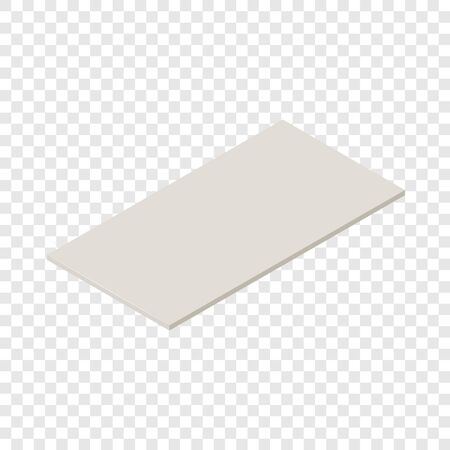 Drywall icon, isometric 3d style