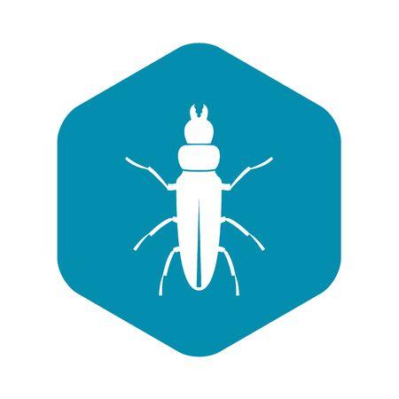Beetle insect icon, simple style Illusztráció