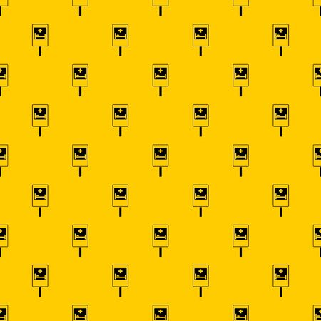 Symbol of hospital road sign pattern seamless vector repeat geometric yellow for any design