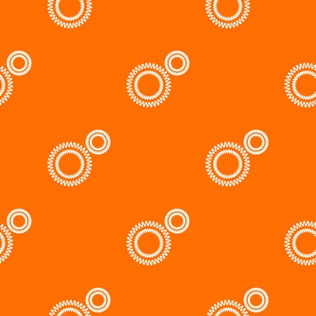 Mildew virus pattern vector orange for any web design best