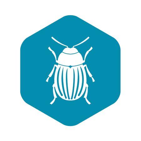 Colorado potato beetle icon, simple style