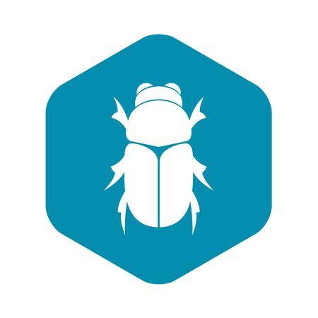 Käferkäferikone, einfacher Stil Vektorgrafik