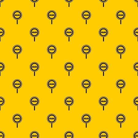 No overtaking sign pattern seamless vector repeat geometric yellow for any design Vettoriali