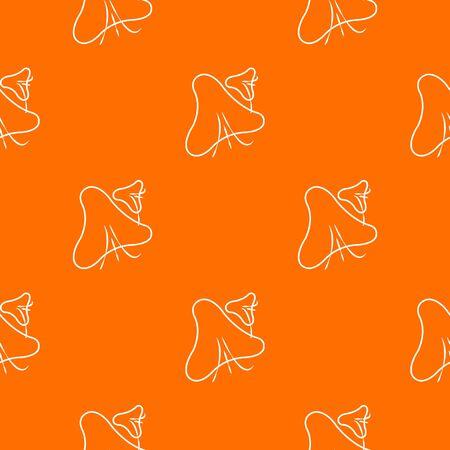 Smallpox virus pattern vector orange for any web design best
