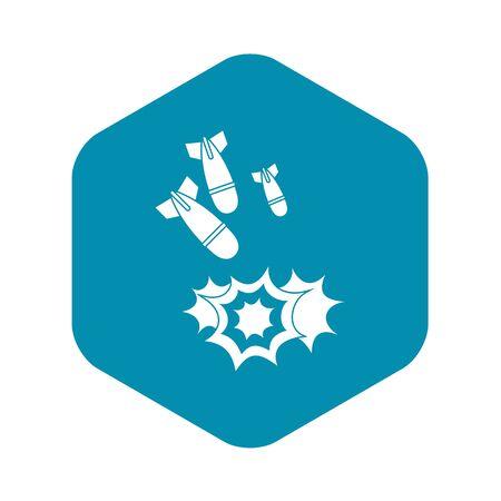 Bomb icon, simple style