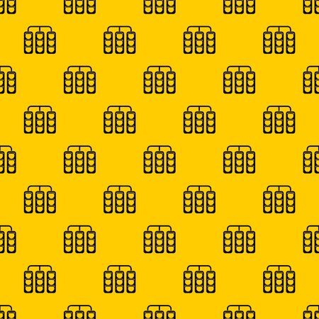 Traffic lights pattern seamless vector repeat geometric yellow for any design