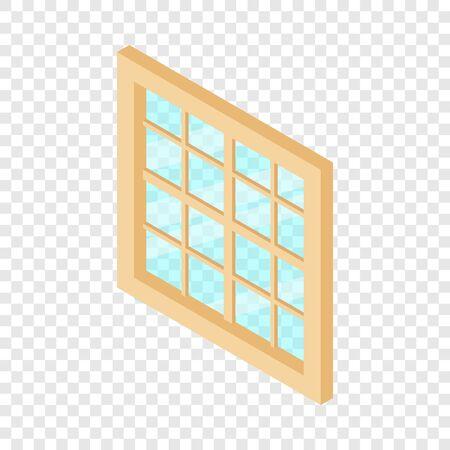 Window frame icon, isometric 3d style