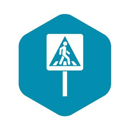 Pedestrian sign icon. Simple illustration of pedestrian sign vector icon for web Vektoros illusztráció