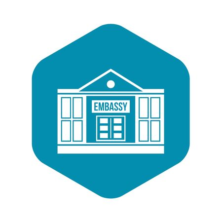 Embassy icon, simple style