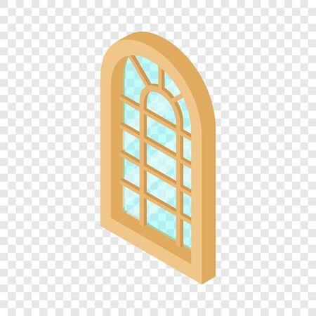 Palace window frame icon, isometric 3d style