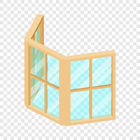Facade window frame icon, isometric 3d style