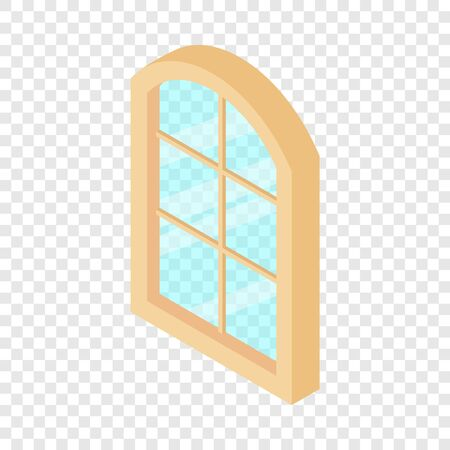 Close window frame icon, isometric 3d style