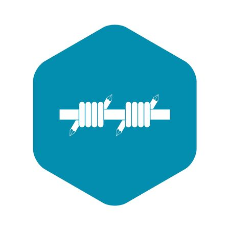 Barbed wire icon, simple style