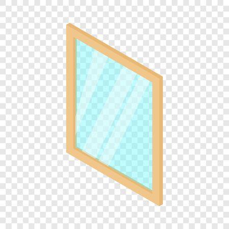 Metal-plastic window frame icon, isometric 3d style