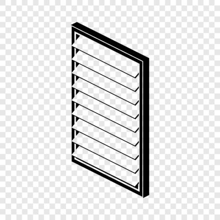 Rectangular window frame icon, simple black style
