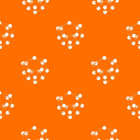 Glucose pattern vector orange for any web design best