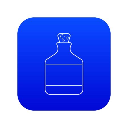 Ethanol in bottle icon blue vector isolated on white background