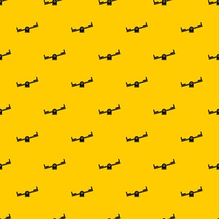 Seesaw pattern seamless vector repeat geometric yellow for any design