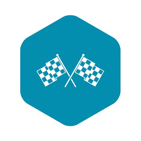 Checkered racing flags icon. Simple illustration of chequered flags vector icon for web Stockfoto - 130253551