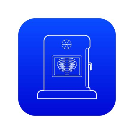 X-ray apparatus icon blue vector isolated on white background
