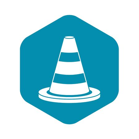 Traffic cone icon. Simple illustration of traffic cone vector icon for web